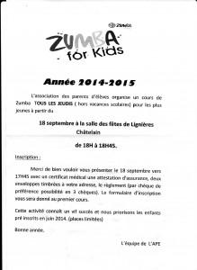Zumba pour enfants